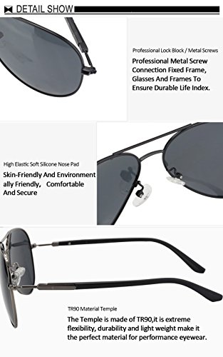 e2f551a398 DUCO Premium Pilot Style Polarized Sunglasses 100% UV protection for Men  Women 3027