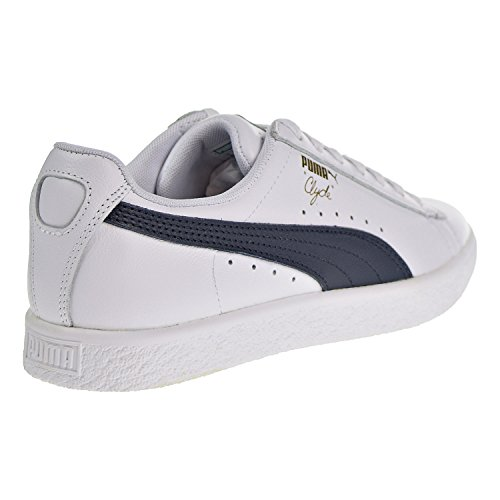 PUMA Women's Clyde Core Sneakers, White New Navy, 9 B(M) US