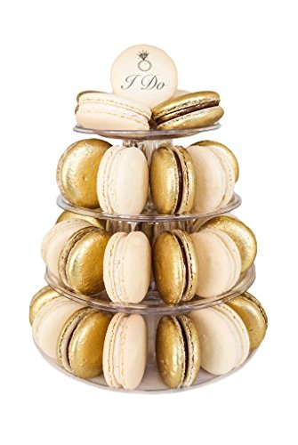 4 Tier 'I do' Celebration Tower by MACARON by Patisse