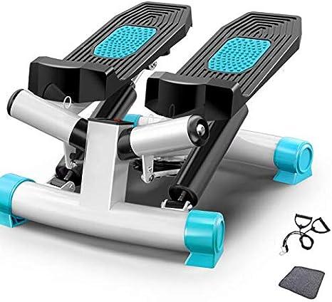 HWOEK Mini Stepper, Stepper 2 en 1 Cuerdas de Resistencia Escaladora y Swing Stepper para Usuarios Principiantes y Avanzados con Pantalla Multifuncional Adultos Unisex