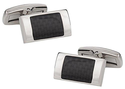 Cuff-Daddy Titanium Carbon Fiber Cufflinks with Presentation Box ()