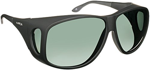 Haven Fits Over Sunwear Banyan Polarized Aviator Sunglasses,Rubberized Black,65.6 - Haven Sunglasses