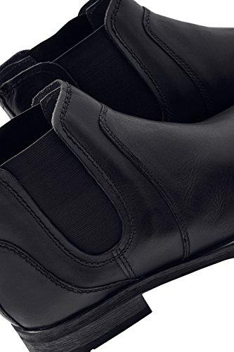 next Hombre Zapatos Botines Botas Estilo Chelsea De Cuero Negro