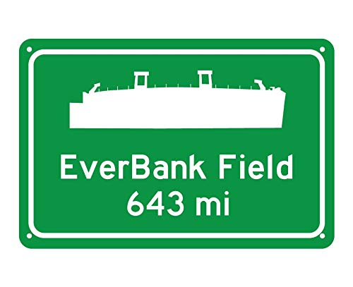 Jacksonville Jaguars Parking Sign - CELYCASY Jacksonville Jaguars EverBank Field Miles to Stadium Highway Road Sign Customize The Distance
