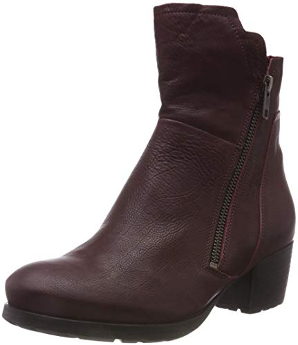 34 Women's Boots Chianti Red Obajo Think Biker 383196 wS7qx7aY