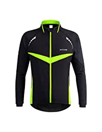 Unisex Thermal Fleece Long Sleeve Wind Jacket Coat Cycling Jacket