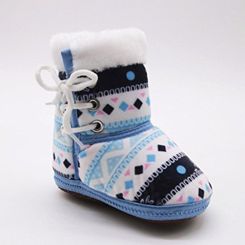 Baby Stiefel,Chshe Prewalker Säugling Süß Obere Baumwollgewebe Sohle Baumwolle Anti-Rutsch Schlüpfen Weich Kind Scuuhe Trainer Blau