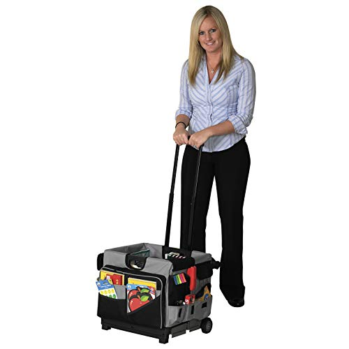 ECR4Kids MemoryStor Universal Rolling Cart and Organizer Bag Set, Black by ECR4Kids (Image #2)