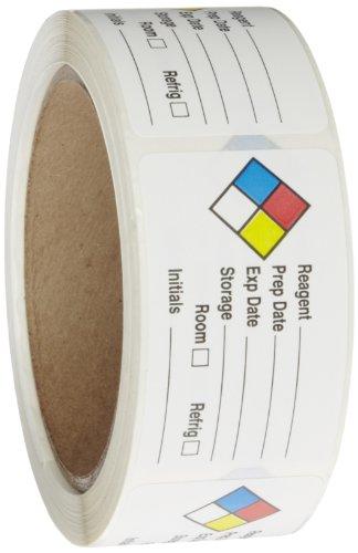 Rollo productos 163–0014Litho extraíble etiqueta adhesiva hmig con huella de 4colores, reactivo nombre (con en...