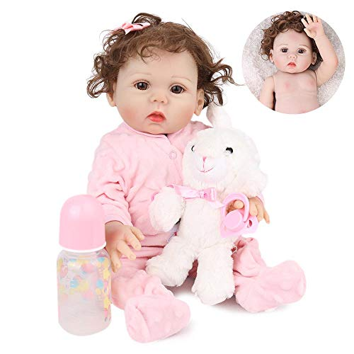 Kaydora Reborn Baby Doll Girl, 16 inch Full Body Silicone, Cute Lifelike Handmade Doll (Silicone Baby Dolls Full Body)