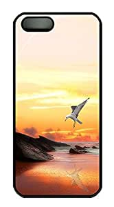 iPhone 5 5S Case Seagull Photography Hd PC Custom iPhone 5 5S Case Cover Black