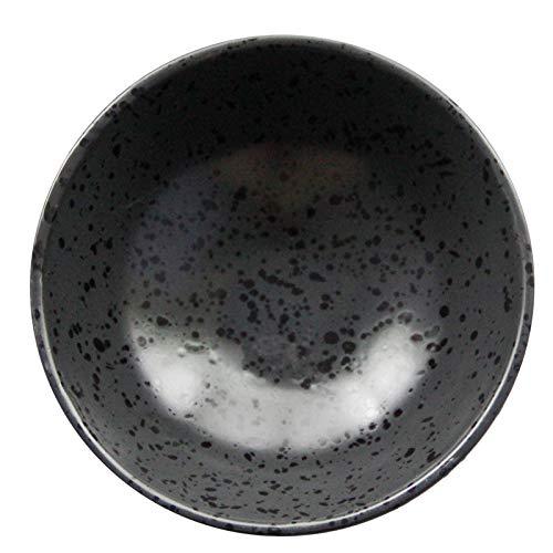QINCH KITCHEN 2 / PCS japonés plato de cerámica del plato de la cena del hotel del plato de la cerámica del plato de la tinta del plato negro grande plato de sopa grande