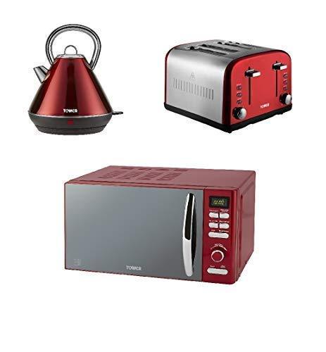 Torre Moderno Infinity Rojo Cocina Juego - Rojo 1.8L 3kW ...