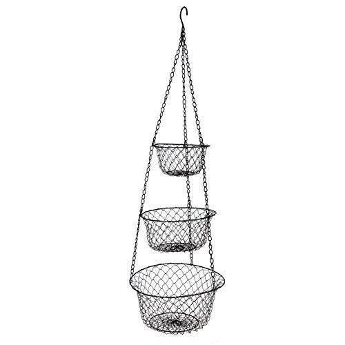 Fruit Basket Kitchen Box (HAI CREATIVE 3-Tier Wire Hanging)