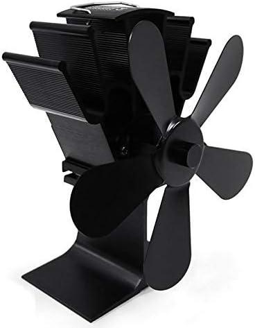 Volwco Ventilador de Estufa, 5 aspas, Funciona con Calor, Funciona ...
