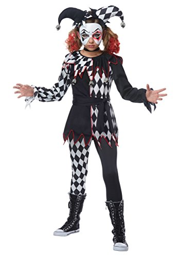 Creepy Jester Girl Kids (Girl Jester Costumes)