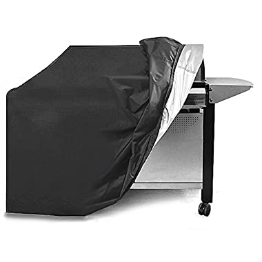 Grill Cover, 58-inch Waterproof BBQ Grill Cover for Weber, Holland, Jenn Air, Brinkmann and Char Broil (Black 190D)