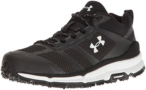 Low Running Verge Top Mens Sneaker Fabric Up white black Lace Black Armour Under OwFtBq