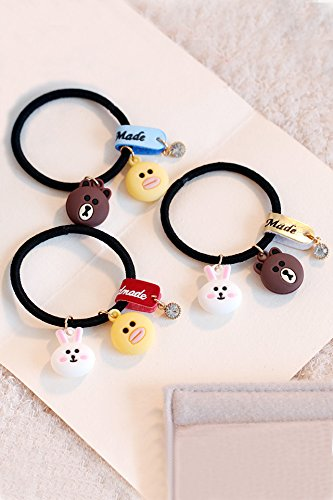 Generic Sweet hair accessories hair rope Tousheng Korean small fresh cute animal hair elastics head ring pendant jewelry suit by Generic (Image #1)