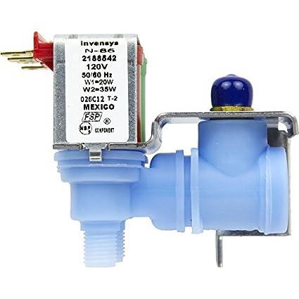 Whirlpool 2188542 heladera y dispensador de agua doble válvula de entrada