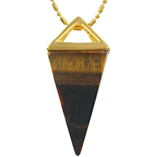 SUNYIK Tiger's Eye Stone Healing Point Pendant Necklace