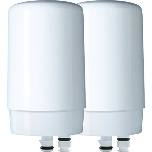 Brita Tap Water Filtration System Replacement Filters for Faucets - White - 2 - Faucet Replacment
