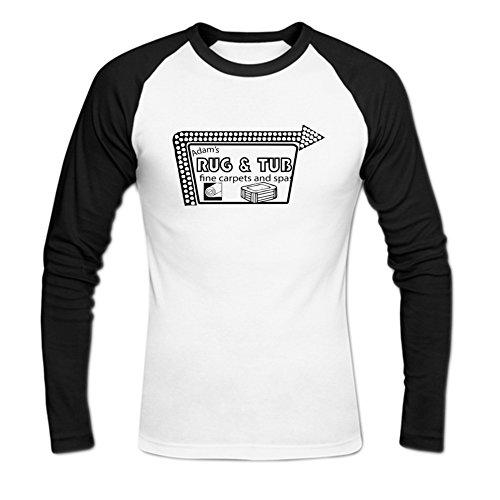 Donovan Jayne Mens Adam's Famous Rug & Tub Innuendo Shop Baseball T-Shirt XXL White