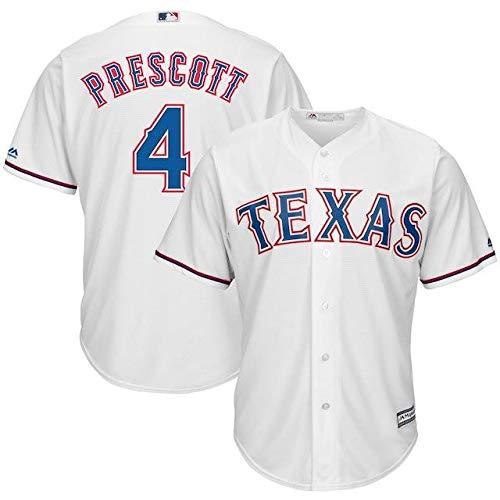 Majestic Majestic Dak Majestic Prescott Texas B07GL28KM1 Rangers White NFL x MLB MLB Crossover Cool Base Player Jersey スポーツ用品【並行輸入品】 M B07GL28KM1, 中蒲原郡:71911e2c --- cgt-tbc.fr