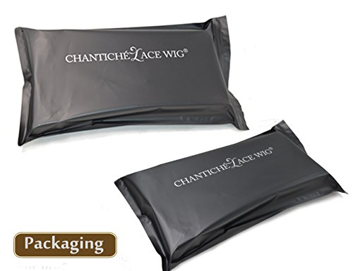 Chantiche Silk Top Invisible Deep Parting Short Kinky Curly Lace Wigs For Black Women Natural Looking Brazilian Remy Human Hair Wigs With Right Part 14 Inch #1B(GL-0103) by Chantiche Lace Wig (Image #8)