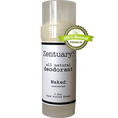 Zentuary All Natural Aluminum Free Deodorant (Unscented) for Women and Men | Nothing Bad & It Works! | Naturally Eliminate Underarm Order | Good For All Humans