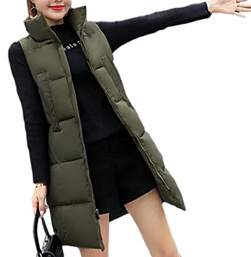 皮肉な現像汚れるKeaac レディースダウンコート冬コート中期ロングコットンパッドプラスサイズベスト