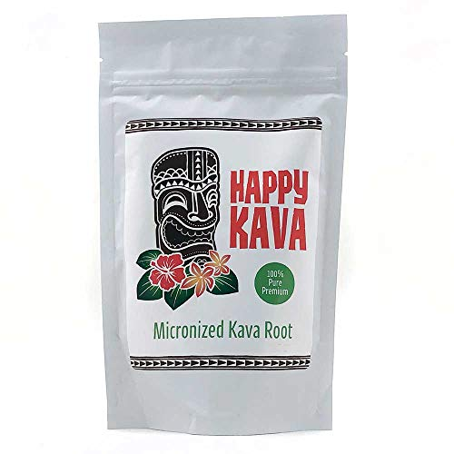 Happy Kava Brand Premium Micronized Kava Root Powder | Concentrated Kava Root Powder Supplement For Sleep Support, Relaxation, Stress and Anxiety Relief | Strong Natural Kava Kava Root Drink Mix