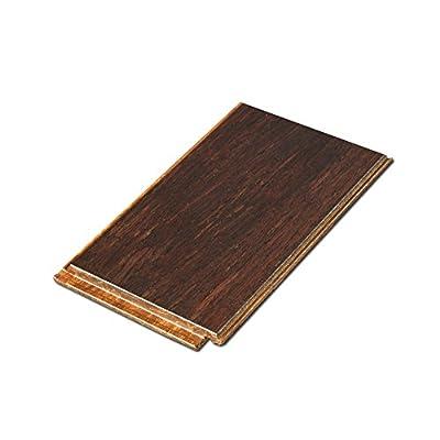 "Cali Bamboo - Solid Click Bamboo Flooring, Vintage Java Dark Brown - Sample Size 8"" x 3 3/4"" x 7/16"""
