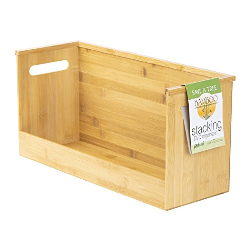 Richards Homewares Bamboo Stacking DVD Tray