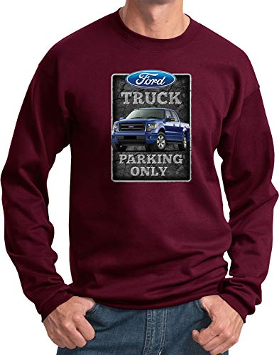 - Ford Truck Parking Sign Sweatshirt, Maroon Small