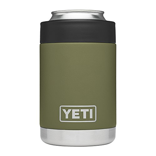 (YETI Rambler Vacuum Insulated Stainless Steel Colster(Olive Green), Olive)
