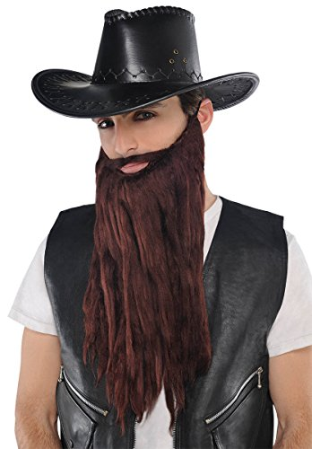 [Plush Beard/Moustache Brown Facial Hair] (Costumes With Moustaches)