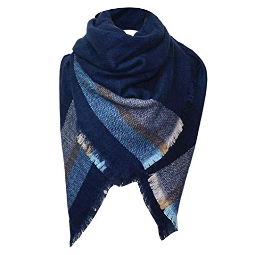 Arc Snowboard Jacket - HYIRI Winter Plaid Scarf Unisex Basic Shawls Women Scarves Plaid Scarves Wraps