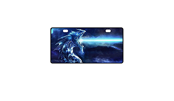 Kitchor Custom Dragon Symbol Surface Personalized Novelty Front License Plate Decorative Vanity Car Tag 11.8 inch X 6.1 inch
