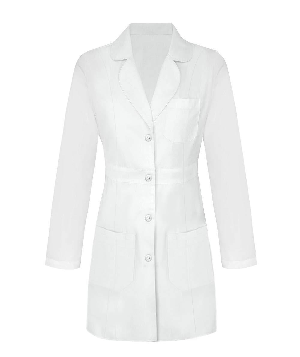 Panda Uniform Custom Women 34 Inch Medical Consultation Lab Coat-White-XL