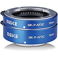 MEIKE MK-P-AF3C Blue All Metal Auto Focus Macro Extension Tube For Olympus Panasonic Micro Four Thirds M4/3 System Camera Lenses 10MM 16MM