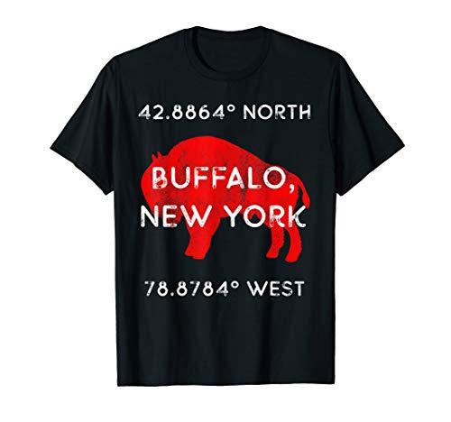Buffalo, NY Pride - Latitude and Longitude Coordinates T-Shirt