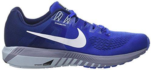 Nike Mens Luftzoomkonstruktion 21 Löparsko Mega Blå / Vit / Binär Blå
