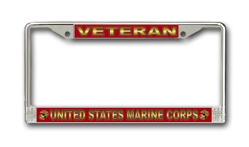 US Marine Corps Veteran License Plate Frame (License Plate Picture Frame compare prices)