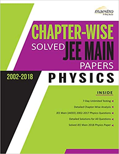 Buy Wiley's Chapterwise Solved JEE Main Papers (2002 - 2018