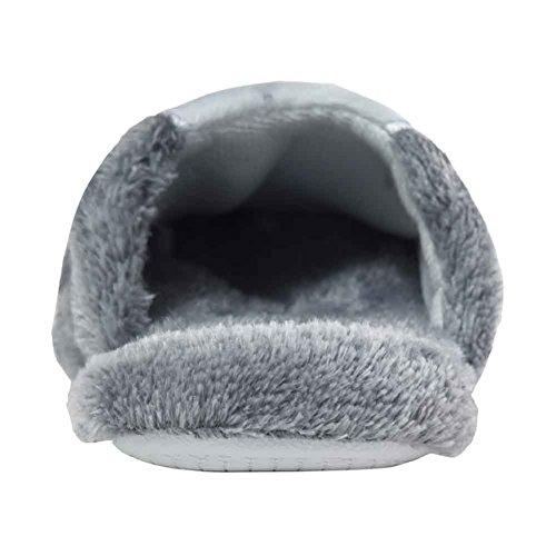 House Women's Cozy Slipper Fleece Plush Urban Bunny CoCo gray BX7wx5c1