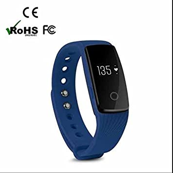 Fitness pulsera Smartwatch Chica Smartwatch Armband, aspecto elegante, unidad Sport Armband, capacitiva Touch Screen, 24 horas Pulsómetro para iOS y Android Smartphone, 0.08 pounds, color azul: Amazon.es: Deportes y aire libre