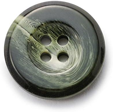 303イタリーボタン(ColorNo.19) 15mm高級紳士服用ボタン袖口用