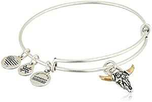 Alex and Ani Spirited Skull Bangle Bracelet, Rafaelian Silver, Expandable