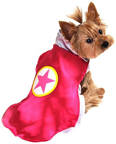 [Anit Accessories AP1092-L Superhero Dog Costume, Pink] (Pink Costumes Cape)